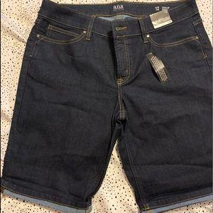 Women Size 12 Denim Bermuda Shorts
